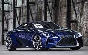 Picture blue, concept, lexus, front view, blue, Lexus, LF-LC