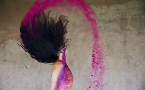 Picture colourful, happy, colour, action, happiness, ballet, movement, moving, ballerina, powder paint