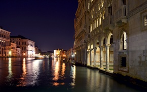 Picture night, the city, photo, building, Italy, Venice, Grand Canal