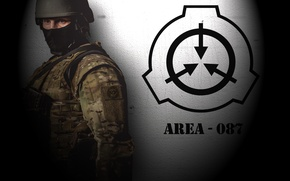 Picture game, weapons, soldier, men, security, SCP, SCP:containment breach, logo.