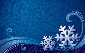 Picture snowflakes, background, patterns, texture
