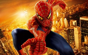 Wallpaper spider-man, spider-man, superhero, the city