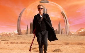Picture look, fiction, planet, guitar, glasses, actor, male, the dome, Doctor Who, Doctor Who, Peter Capaldi, …