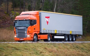 Picture Road, Speed, Truck, Truck, Scania, Tractor, Scania, Trailer, PNO, P400, R400, Trailer, Highline