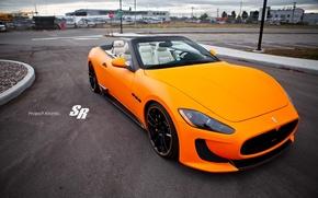 Picture Maserati, convertible, 2012, Maserati, orange, Convertible, Gran Turismo, V-8, SR Auto Group, Atomic