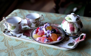 Picture tea, food, candy, sweets