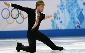 Picture black, sport, star, ice, figure skating, master, costume, athlete, fingers, legend, Russia, champion, RUSSIA, Sochi …