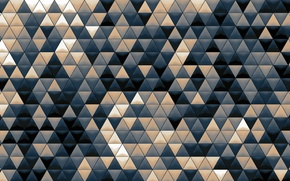 Picture mosaic, background, abstraction, Wallpaper, texture, the volume, colorful, Triangles