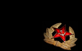 Picture star, hammer, hammer, badge