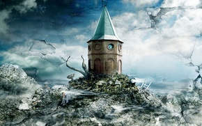 Wallpaper figure, house, fantasy, castle