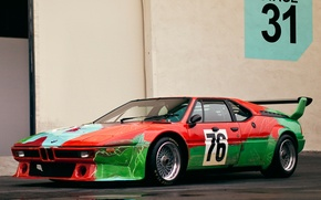 Picture supercar, Group 4 Rennversion Art Andy, Warhol E26 classic, 1979 BMW M 1