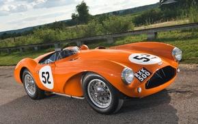 Picture orange, Aston Martin, 1953, classic, the front, Aston Martin, beautiful car, DB3S