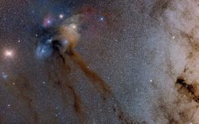 Picture space, stars, nebula, beauty
