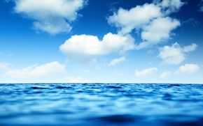 Picture sea, wave, the sky, water, clouds, landscape, nature, river