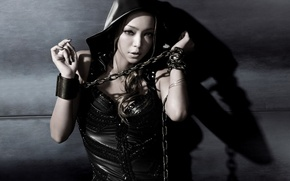 Picture girl, singer, chain, Namie Amuro, Namie Amuro