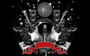 Wallpaper disco, guitar, club