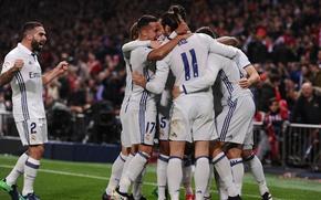 Picture football, victory, sport, team, team, the celebration, Real Madrid, footbal, Real Madrid CF, Real Madrid-Atletico