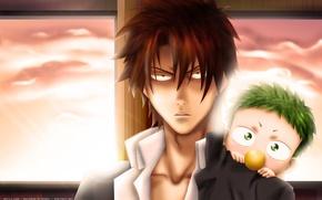 Picture toddler, Beelzebub, OGA Tatsumi
