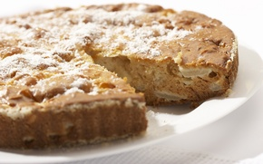 Picture pie, cakes, sweet, delicious, powdered sugar, Charlotte