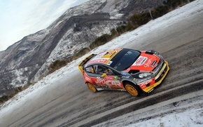 Picture Ford, Road, Race, WRC, Rally, Fiesta, Monte-Carlo, The front