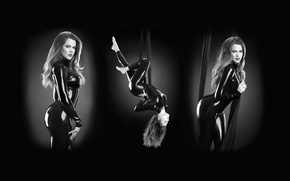 Wallpaper Khloe, sexy, Nick Saglimbeni, Saglimbeni, Kardashian, Khloe Kardashian, latex, shiny, catsuit, pretty