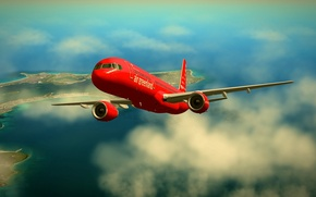 Picture x-plane, boeing757, 757