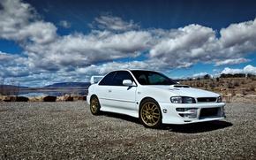 Picture Subaru, Impreza, WRX, white, STI, '1992