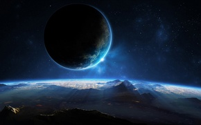 Wallpaper stars, cosmos, planets