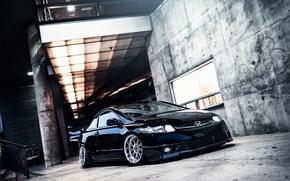 Picture black, honda, black, Honda, civic, civic, stance