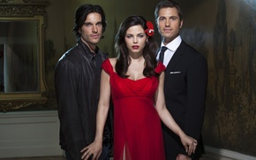 Picture dress, brunette, fantasy, the series, in red, men, TV Series, Witches of East End, Witches ...