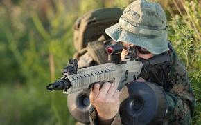 Wallpaper SBR, commando, carabiner