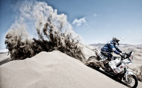 Picture sand, motorcycle, pustina