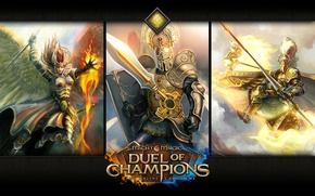 Picture Aliya, Might & Magic: Duel of Champions, the Crusader of the sun, sacred guard