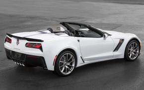 Picture white, Chevrolet, sportcar, Corvet