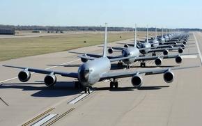 Wallpaper Stratotanker, KC-135, McConnell Air Force Base