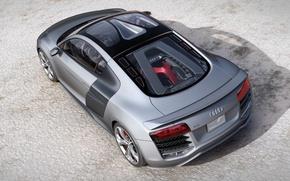 Picture asphalt, audi, grey, car