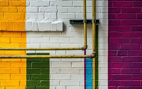 Picture pipe, wall, color
