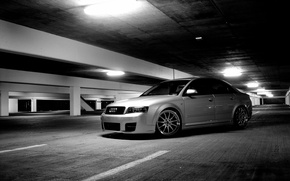 Picture Audi, Audi, Parking, grey, tuning