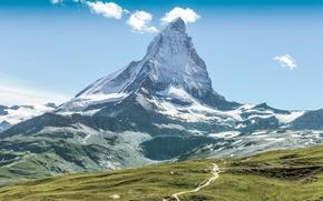 Wallpaper Alps, widescreen, HD wallpapers, Wallpaper, full screen, background, Matterhorn, Alps, fullscreen, mountain, widescreen, background, nature, ...