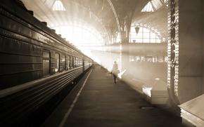 Picture station, train, Saint Petersburg