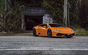 Picture Lamborghini, Orange, Huracan, LP610-4