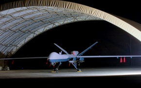 Picture hangar, Reaper, MQ-9, General Atomics Aeronautical Systems, reconnaissance and strike UAVs, us drone
