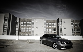 Picture City, cars, auto, Bmw, wallpapers auto, Parking, Wallpaper BMW, 530i, bmw e60