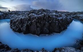 Picture water, nature, stones, rocks, Laguna, Iceland