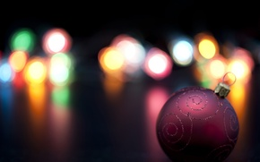 Picture lights, holiday, new year, ball, Christmas, christmas, new year