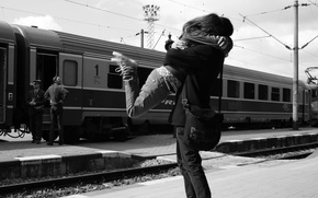 Picture love, train, hugs