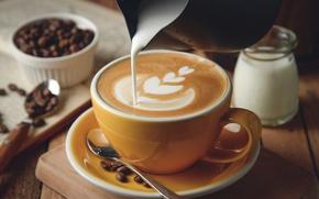 Picture coffee, cream, foam