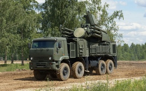 Picture Russian, complex, self-propelled, Pantsir-S1, missile and gun, anti-aircraft