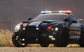 Picture Ford Mustang, Transformers, Transformers 5: The Last Knight, Barricade, Custom Ford Mustang Police Car