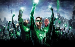 Wallpaper fiction, movie, superhero, green lantern, green lantern, ryan reynolds
